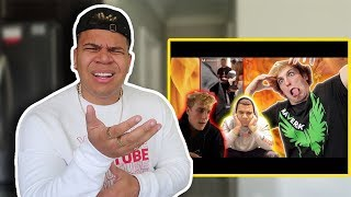 REACTING TO LOGAN PAUL REACTING TO ME & JAKE PAUL FIGHT!