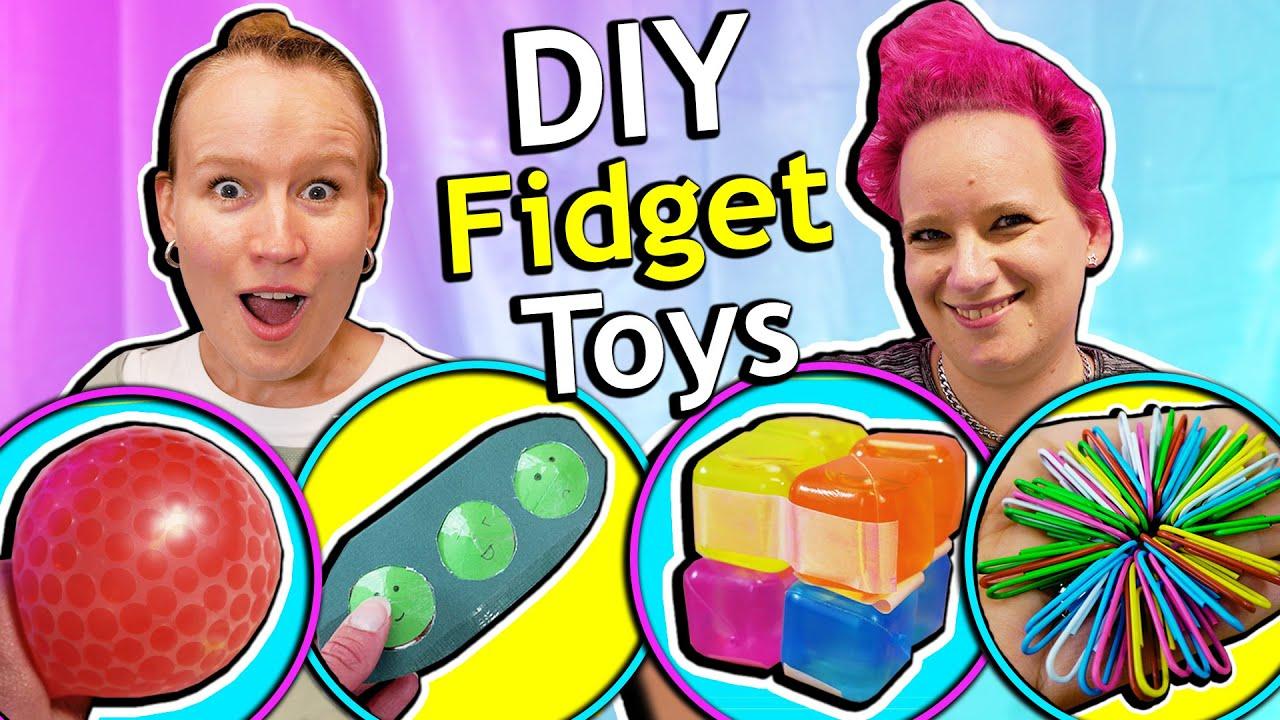 6 FIDGET TOY DIYs, die ihr ganz einfach nachmachen könnt! Anti-Stress Bälle, Pop it, Schleim Ballon