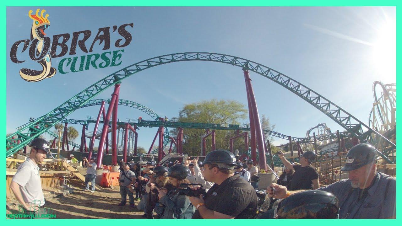 Cobras Curse Roller Coaster Hard Hat Tour Hd Busch