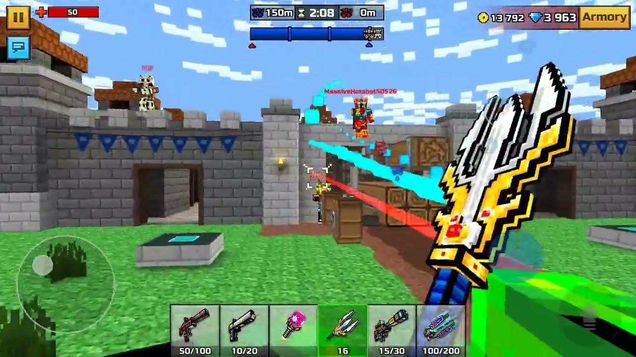 You Picki Play 41 Clan Siege Battle Game Drei Pixel Gun 3d