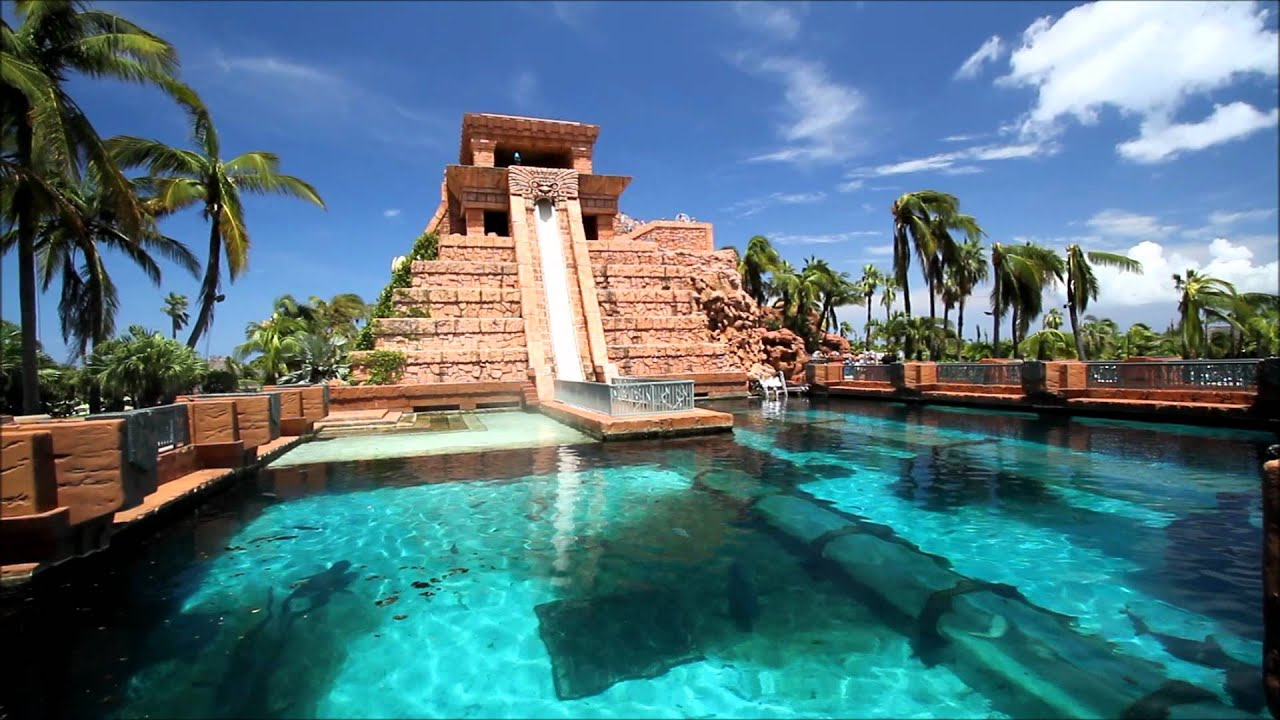 Atlantis Mayan Water Slide Youtube