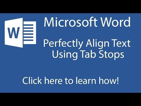 Word 2013: Tab Stops