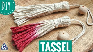 How to Make Tassel DIY - Macrame Boho Craft
