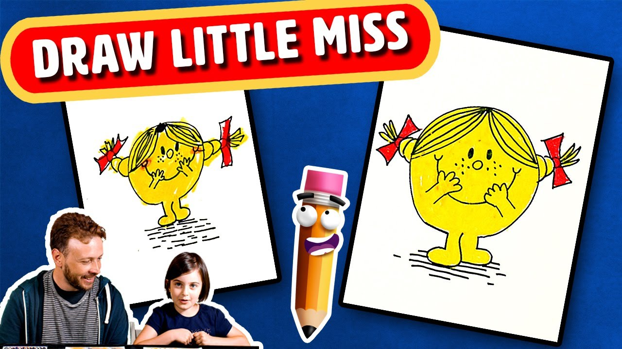 How To Draw Little Miss Sunshine Step By Step Drawing Tutorial For Kids Youtube