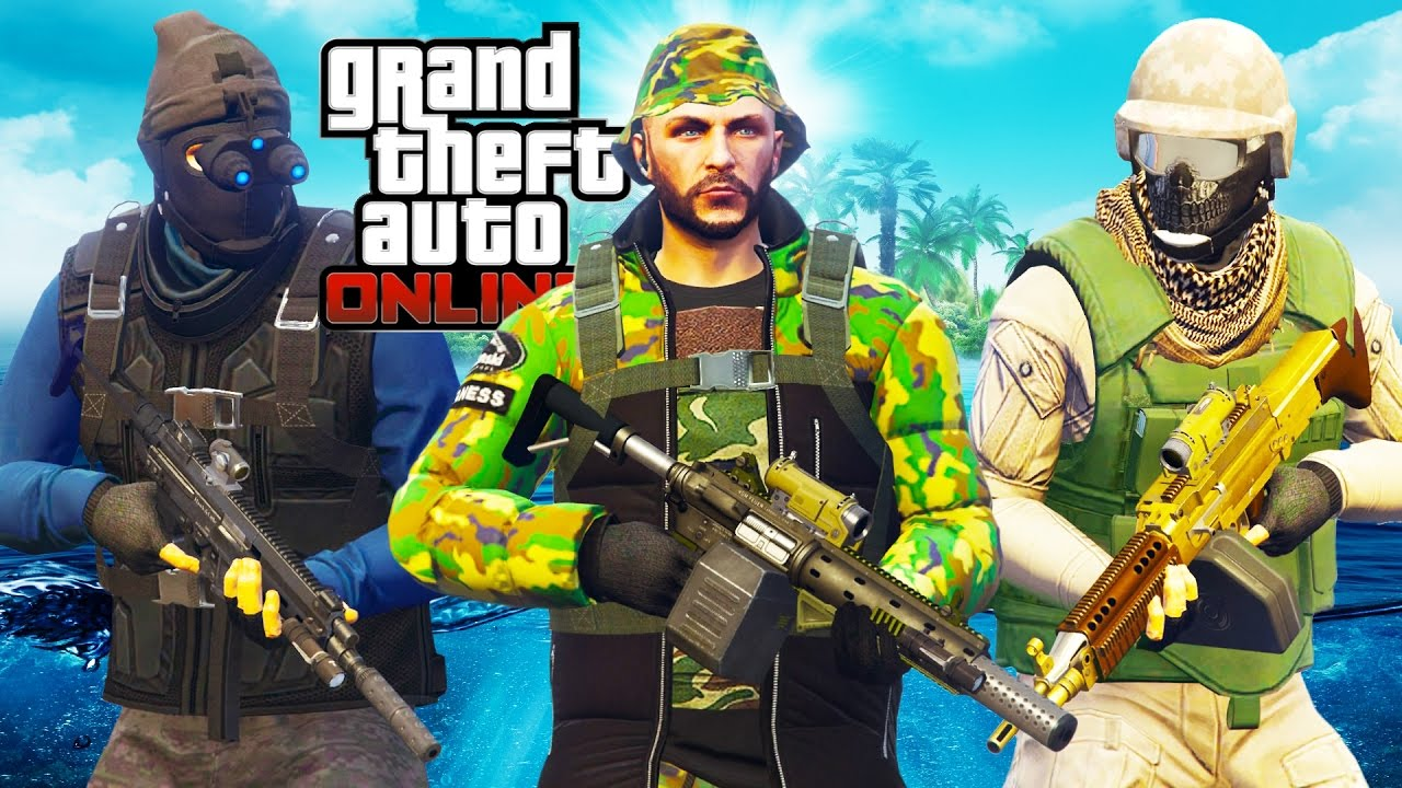 GTA 5 ONLINE - BEST MILITARY OUTFITS. How to look like a NAVY SEAL soldier in GTA 5 - YouTube