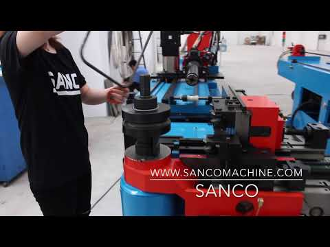 SANCO IPC industry computer CNC pipe bending machine programe and operation