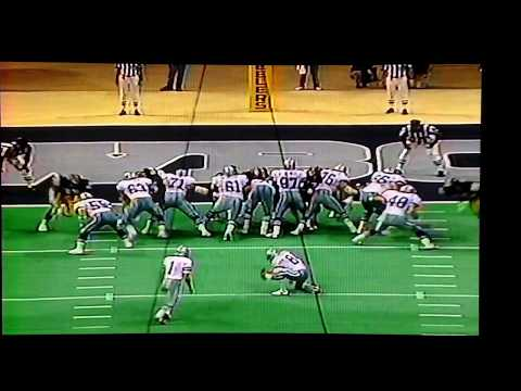 1991 Pittsburgh@Dallas Irvin 66yd TD pass from Beuerlein Thanksgiving Day