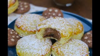 Quick and easy chocolate filled donuts: everyone will love this sweet treat!