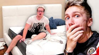 I Spent the Night in Mini Ladds House & He had No Idea... (24 Hour Challenge)