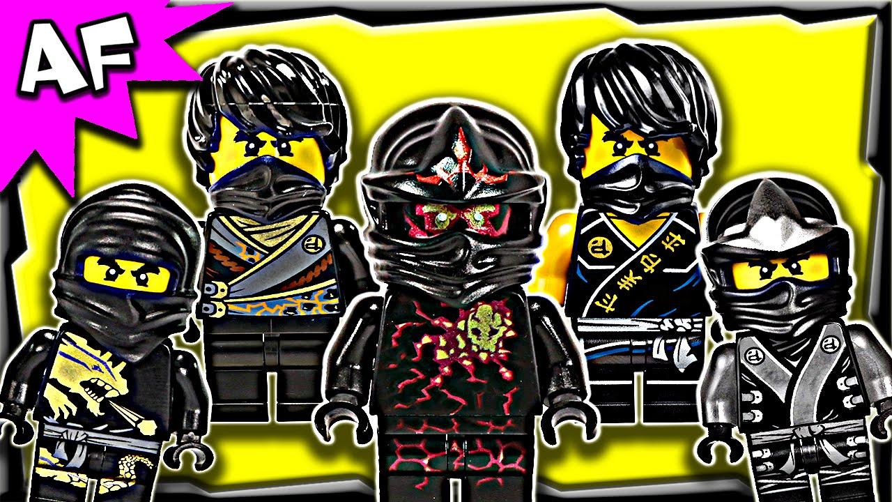lego ninjago cole black ninja minifigures complete collection youtube