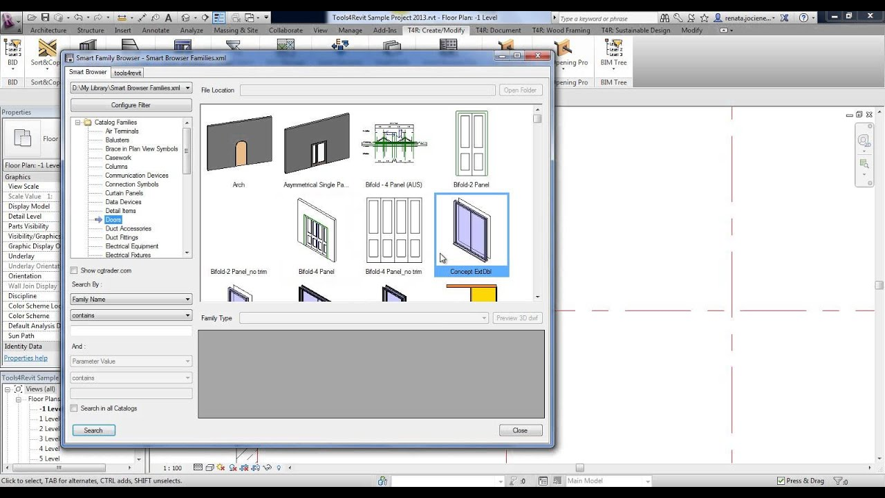 Revit Add-on Smart Browser Free for Family Search & Efficient