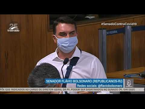 Flávio Bolsonaro acredita que CPI da COVID-19 pode colocar em risco saúde de senadores