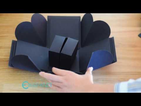 How to make paper explosion gift  box / DIY Valentine's Day, birthday, wedding surprise Box Tutorial