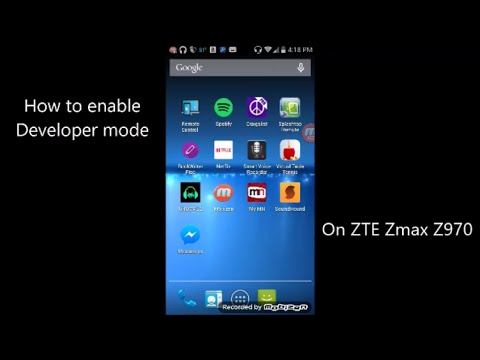 has zte zmax pro engineering mode wide