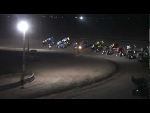 Wild West Shootout winged sprints main 1/12/13 Central Arizona Raceway