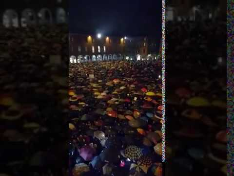 """thousands-of-antifascists-sing-""""bella-ciao""""-under-the-rain-during-anti---salvini-rally-[italy]"""