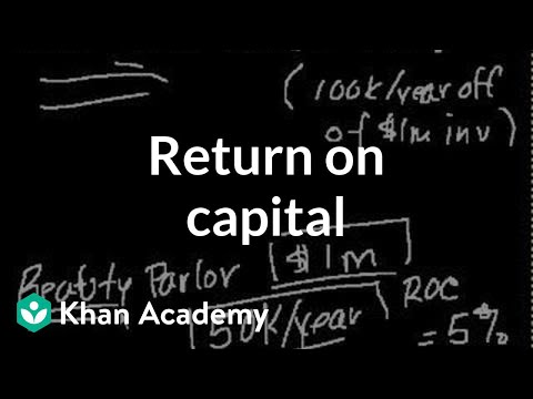 Return on capital | Finance & Capital Markets | Khan Academy
