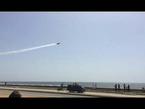 PAF Aircraft's outstanding performance at Karachi sea view | 24 News HD