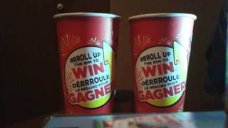 Tim Hortons roll up the rim to Win 2017 part 47