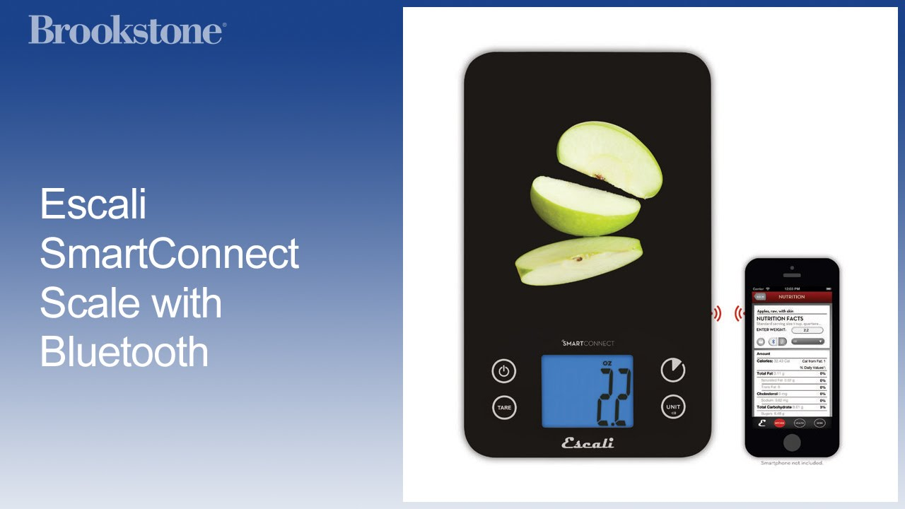Escali Smart Connect Bluetooth Bath & Kitchen Scales - YouTube