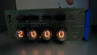 Nixie Clock Using 1970s Circuit Board