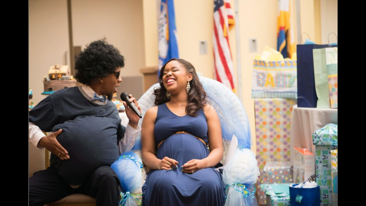 Husband Surprises Wife At Baby Shower 6 19 15 Youtube