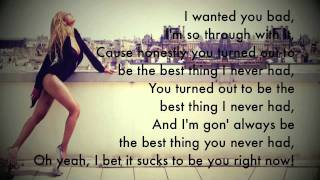 Beyonce - Best Thing I Never Had -  Instument + Lyric (Male Instrumental)