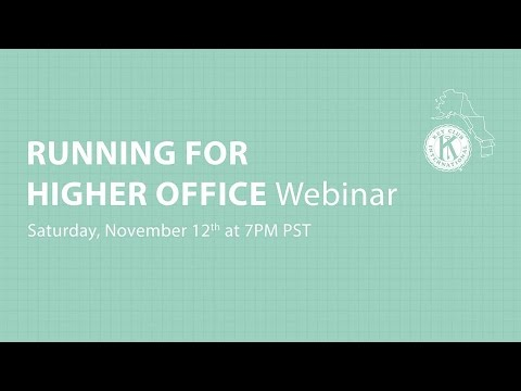 Running for Higher Office Webinar 11.12.16