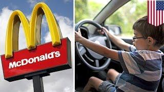 8살짜리 남자아이, 유튜브에서 운전하는 법 검색한 뒤, 맥도날드로 고고!