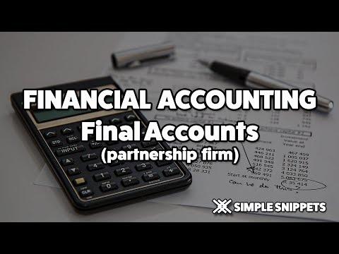 Final Accounts of Partnership Firms