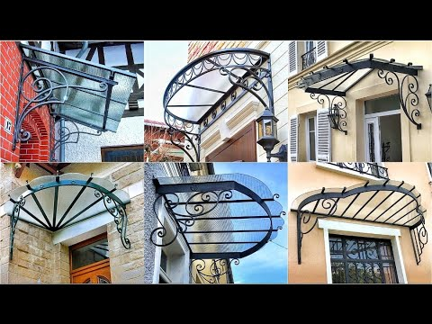 Download Metal awning ideas 2021 - Wrought iron awning & Metal awning front door window canopy ideas