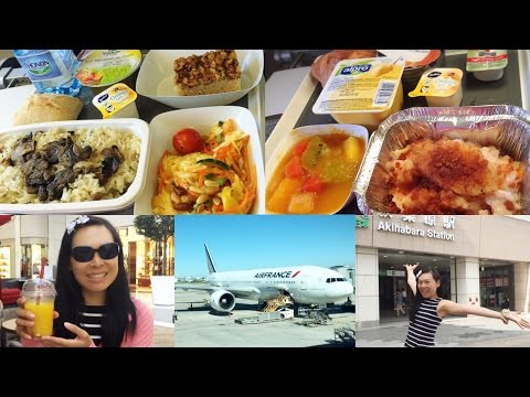 What I eat in a day #4 [Vegan] aéroport Paris & avion France-Japon, menu végétalien Air France