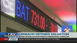 Carbacid says Sh 63.50 offer presents a premium for BOC shareholders