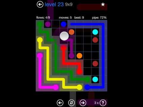 Flow Free Bonus Pack 9x9 Level 23 Walkthrough