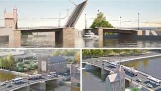Испытание разводного механизма моста