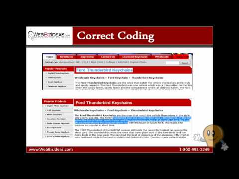 Search Engine Friendly Web Development:  Correct Coding