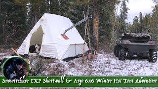 Snowtrekker EXP Shortwall & Argo 6x6 Winter Hot Tent Adventure
