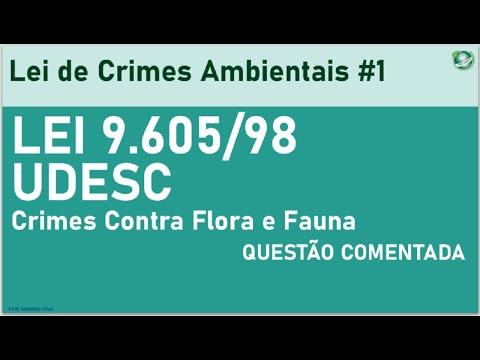Crimes Ambientais   Lei 9.605/98   Correção de Questão #1   UDESC