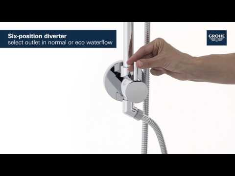 "GROHE | Retro-fit Shower System | Swivel Shower Arm, 25"" Rail 