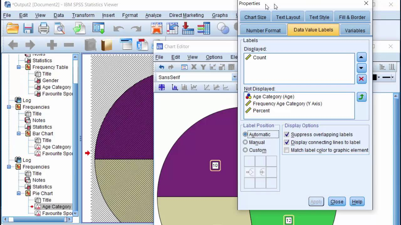 Spss Frequency Tables Bar Chart Pie Chart Multiple Bar Chart