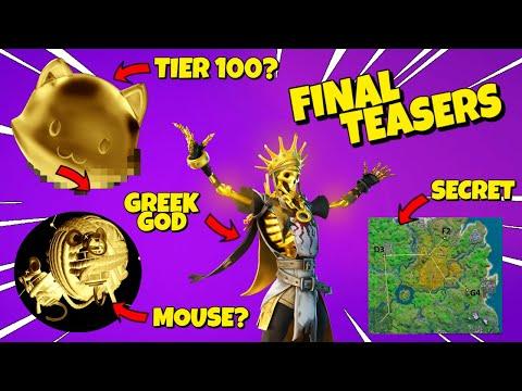 FINAL TEASERS: Tier 100 Skin? Cat & Mouse, Midas God - Fortnite C2S2