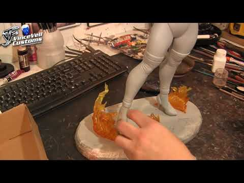 Bowsette Custom Statue from PCS Roxy Part 7 Hand & Base Set Up