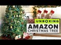 Unboxing an Amazon Christmas Tree