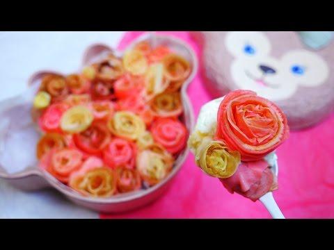 Rose Crepe Cake  花束を君に クレープで薔薇を作ってケーキにする - YouTube