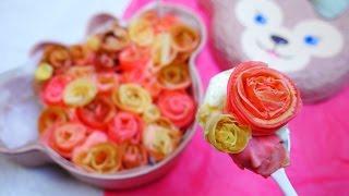 Rose Crepe Cake  花束を君に クレープで薔薇を作ってケーキにする