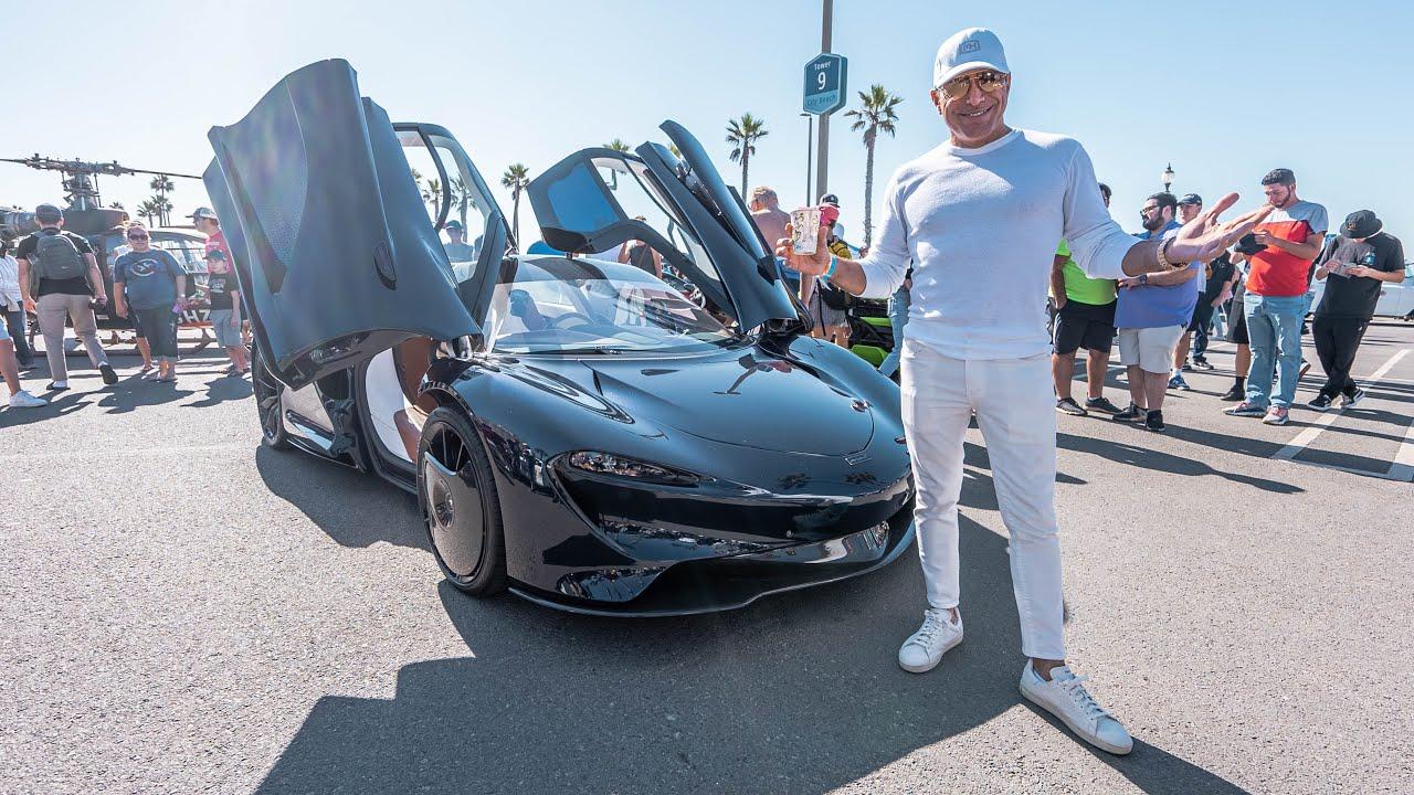 TAKING THE HERMES MCLAREN SPEEDTAIL TO OC'S BIGGEST CAR SHOW! || Manny Khoshbin