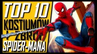 TOP 10 NAJLEPSZYCH Kostiumów Spider-Mana + Ewolucja Stroju [Radioaktywny TOP & Tomek Dymek]