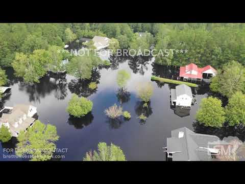 9-24-2018 Conway, SC Drone over flooded neighborhoods from Waccamaw River Record Flooding Florence