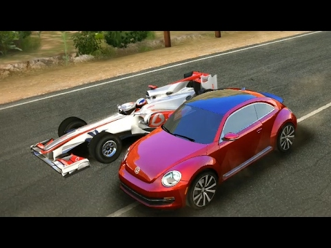 Asphalt 8 Volkswagen Beetle Turbo vs McLaren MP4-25 Dragon Tree (Race Suggestion #44)