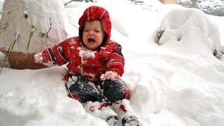 Реакция Детей на Снег! Приколы с Детьми! Funny Kids!